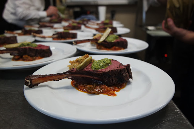 Venison Tenderloin with Chimichurri and Okra 3 Ways (stewed, pickled and fried)
