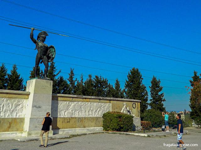 Monumento a Leônidas e os 300 de Esparta, nas Termópilas, Grécia
