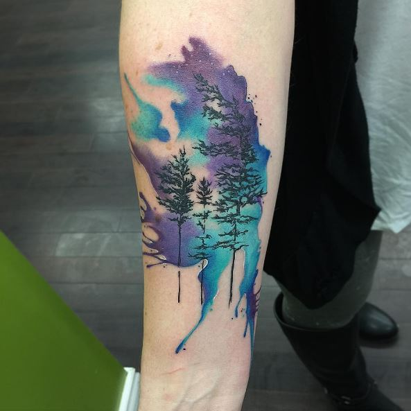 50 Watercolor Tattoo Designs That Age Slowly 2017