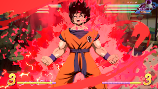 "las versiones básicas de Goku y Vegeta para ""Dragon Ball FighterZ""."