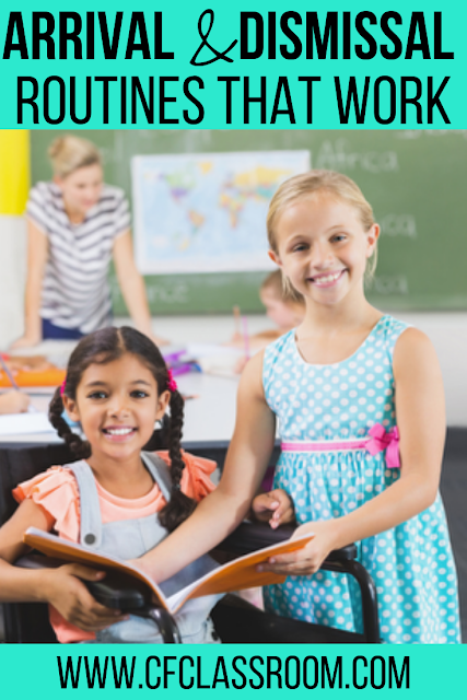 Are you looking for tips and ideas for creating classroom arrival and dismissal routines that are easy to implement? Check out these two blog posts! #classroomarrival #arrival #classroomdismissal #dismissal