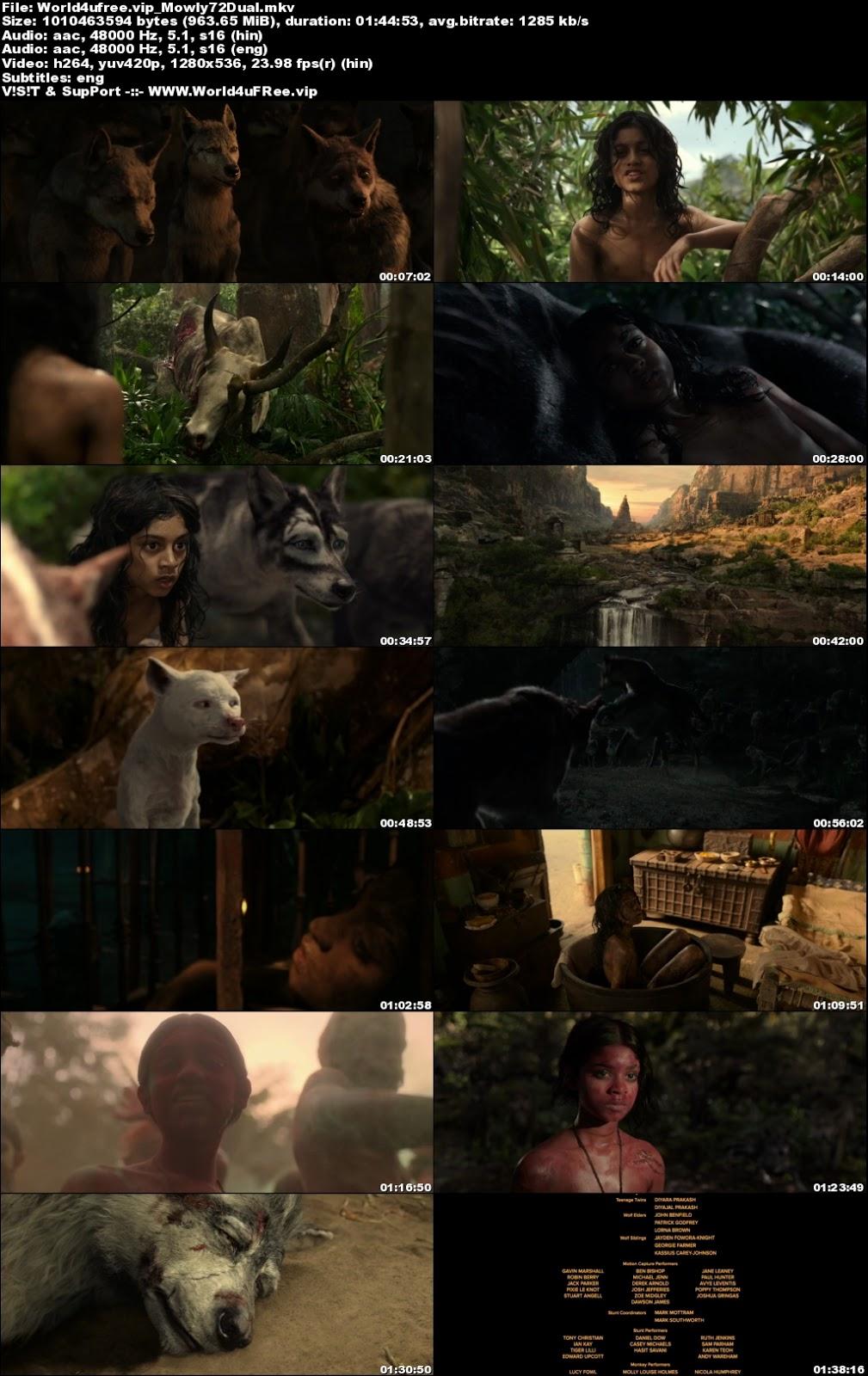 Mowgli Legend of the Jungle 2018 Dual Audio 720p HDRip 950Mb x264 world4ufree.vip, hollywood movie Mowgli Legend of the Jungle 2018 hindi dubbed dual audio hindi english languages original audio 720p BRRip hdrip free download 700mb movies download or watch online at world4ufree.vip