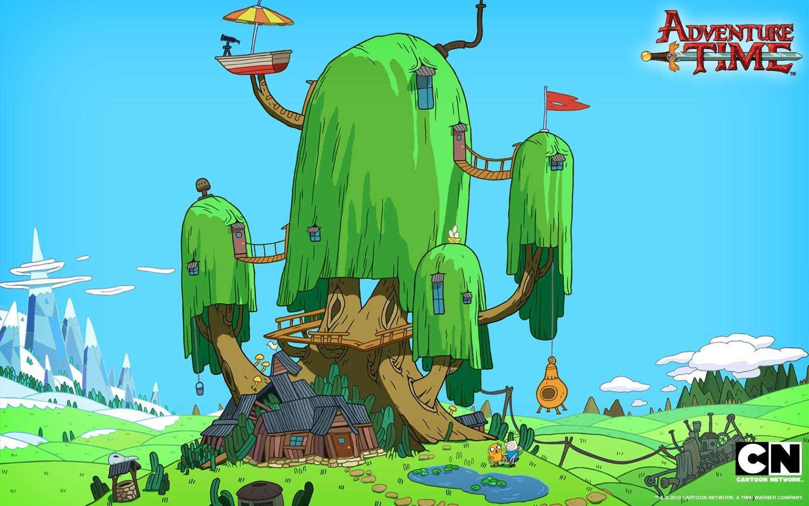 Treehouse wallpapers cartoon wallpaper