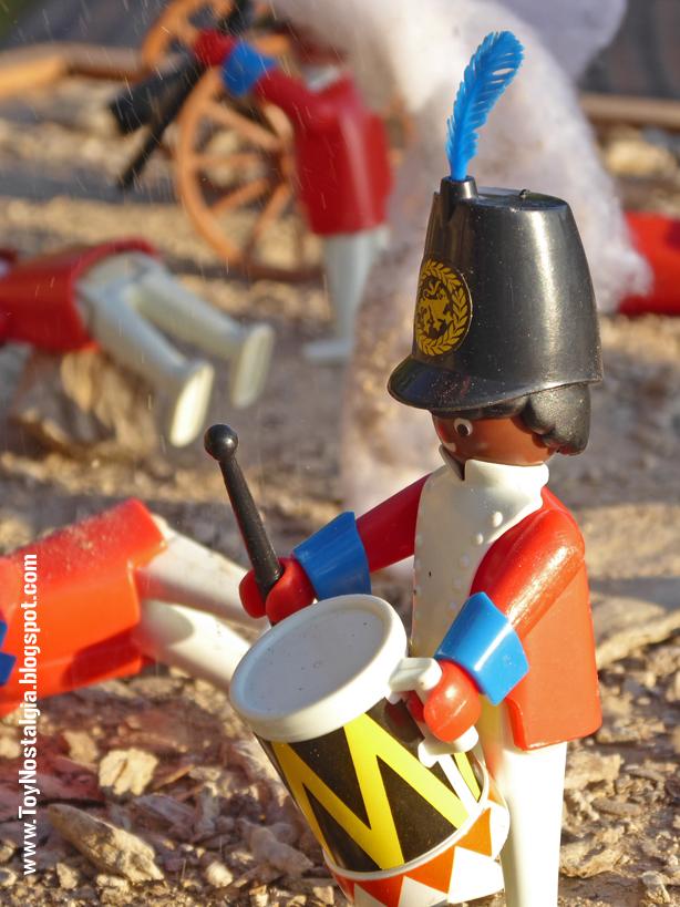 """Playmobil 3544, """"casaca roja"""" negro bajo fuego enemigo  (Playmobil 3544 - redcoats)"""