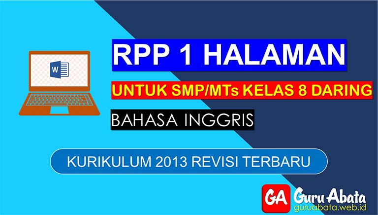 Contoh RPP Daring Bahasa Inggris Untuk SMP Kelas 8 Semester 2