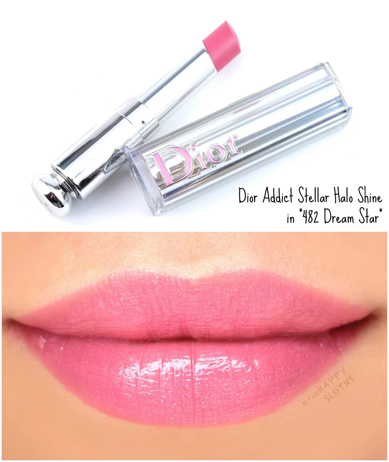 "Dior | Dior Addict Stellar Halo Shine Lipstick in ""482 Dream Star"": Review and Swatches"