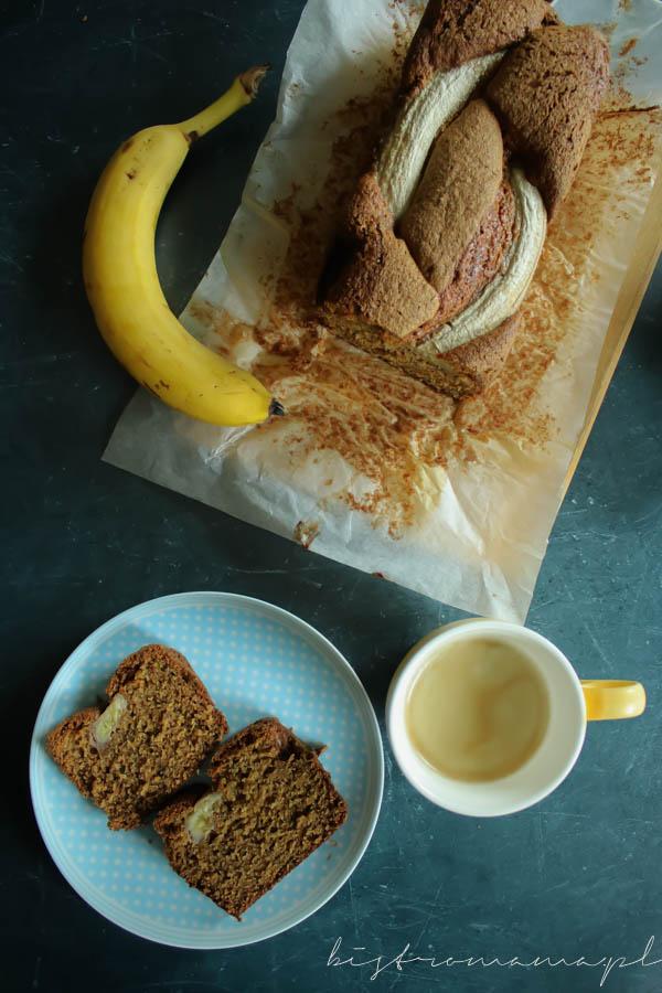 owsiane ciasto bananowe