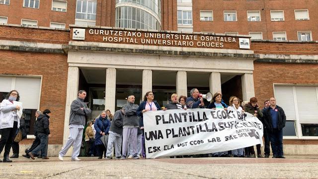 Imagen de archivo de una protesta del personal del hospital