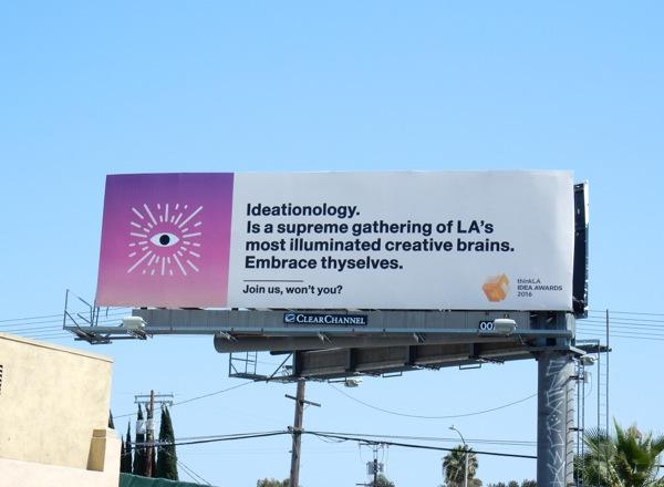 Ideationology Think LA Idea Awards 2016 billboard