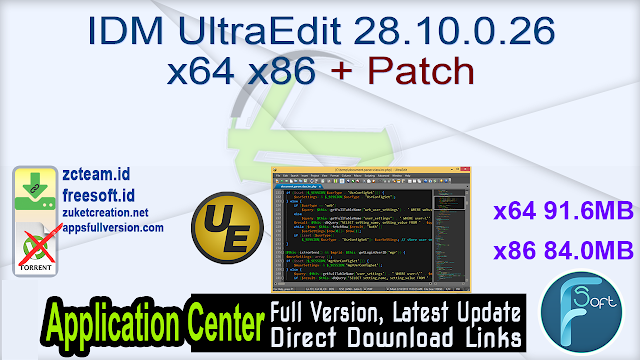 IDM UltraEdit 28.10.0.26 x64 x86 + Patch_ ZcTeam.id