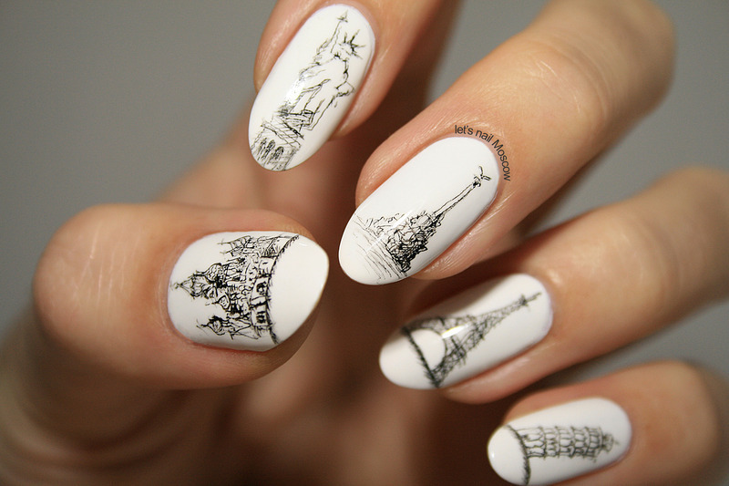 A morning in Paris nail art! - Paris Inspired Nail Art Ideas: Fall In Love!
