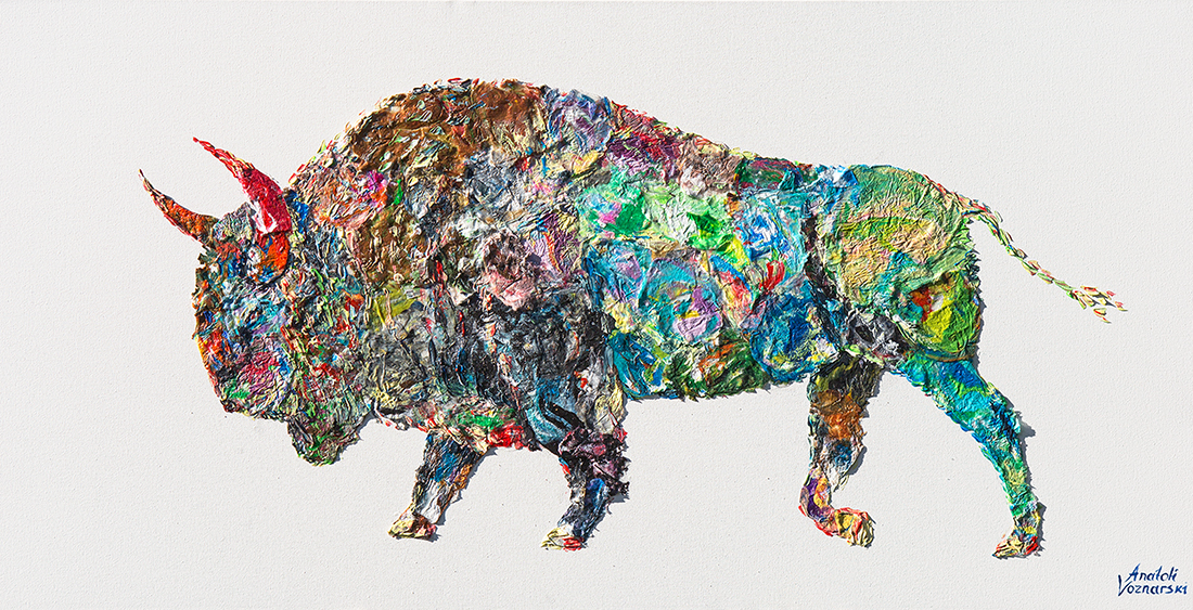 buffalo painting,buffalo unique texture, buffalo voznarski, buffalo 3d artwork,  buffalo pop art, abstract buffalo painting, buffalo on canvas, buffalo oil ,buffalo 3d painting, buffalo acrylic,buffalo impasto,