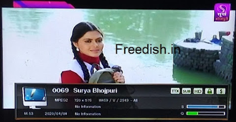 Surya Bhojpuri channel Frequency, Surya Bhojpuri LNB Frequency