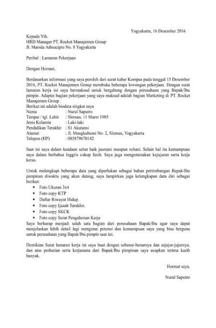 10 Contoh Surat Lamaran dan CV yang Simpel dan Menarik