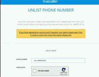Unlist contact details