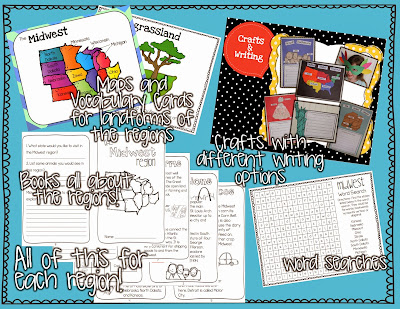 http://www.teacherspayteachers.com/Product/United-States-Regions-Fun-activities-for-teaching-about-US-Regions-607587