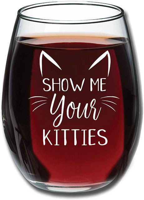 Cat inspired wine glasses on amazon by barbies beauty bits
