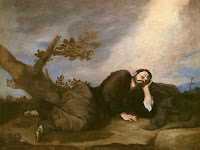 Jacob's Dream by baroque painter Jusepe de Ribera, follower of Caravaggio Merisi, circa 1639