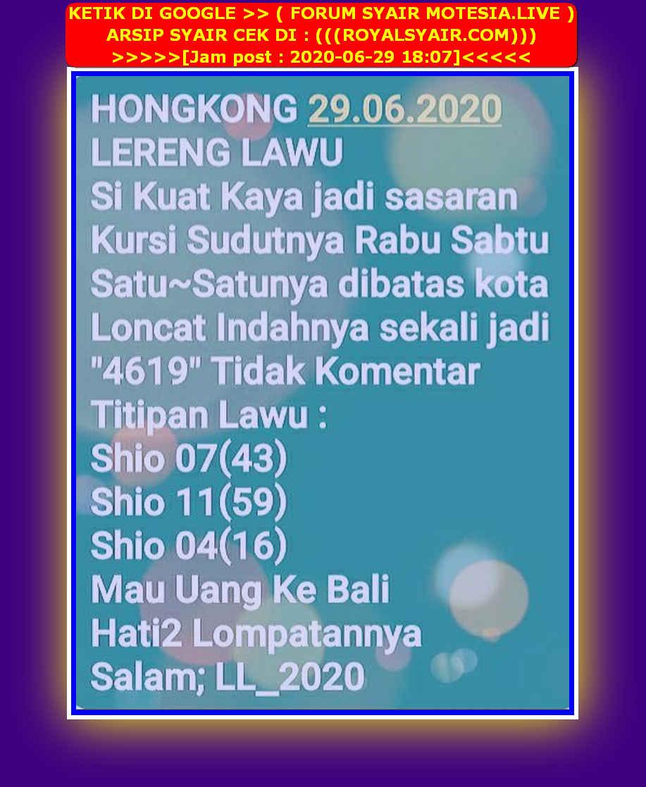 Kode syair Hongkong Senin 29 Juni 2020 36