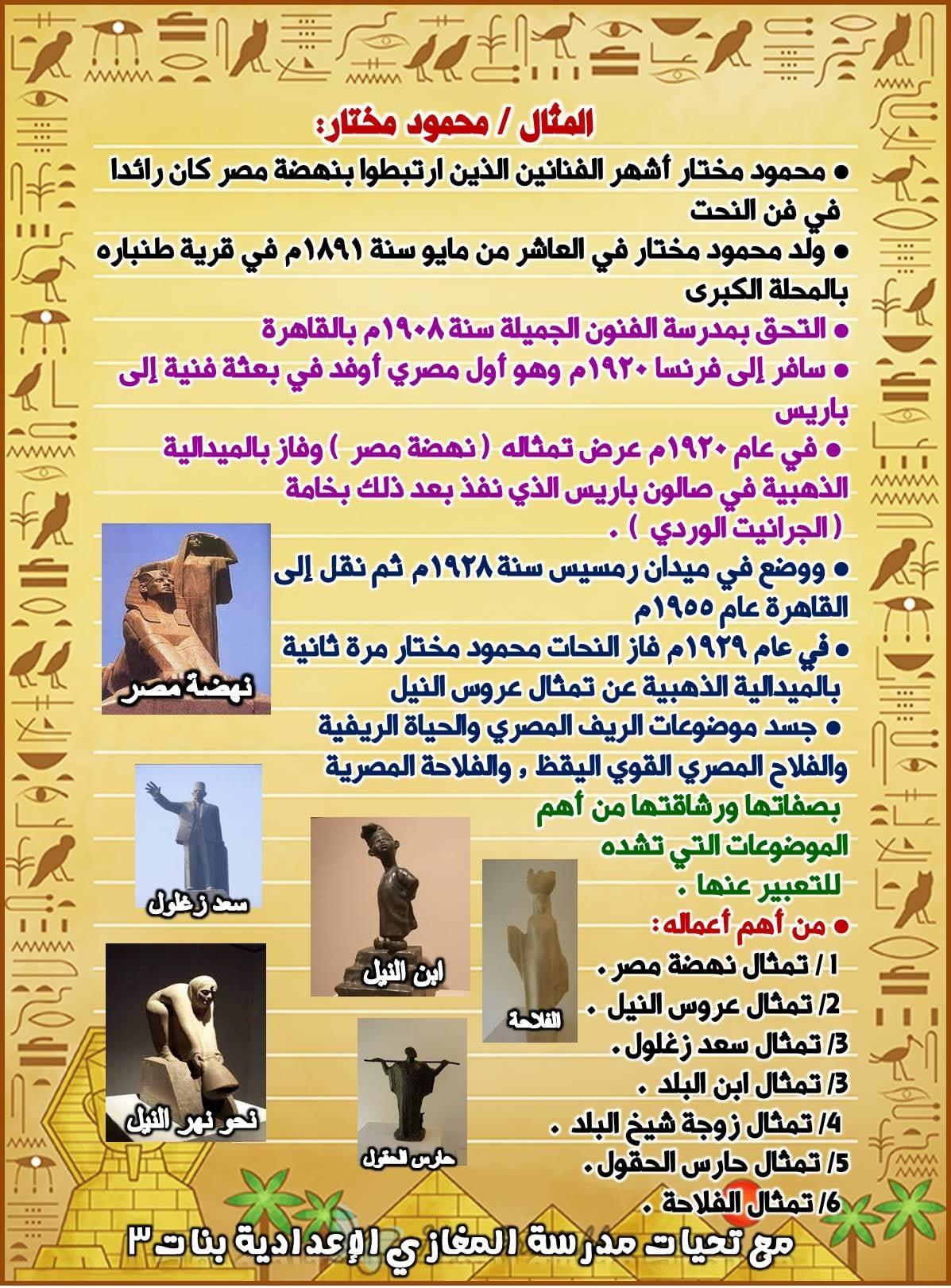 مراجعة التربية الفنية للصف الثالث الإعدادى ترم ثاني | صور 4