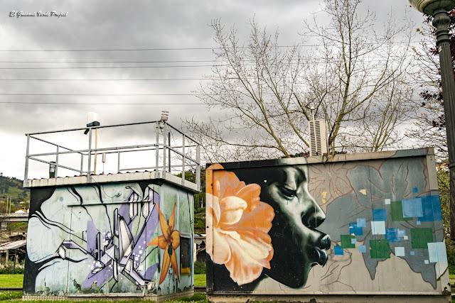 Mural Caseta Aire en Zorroza - Bilbao, por El Guisante Verde Project