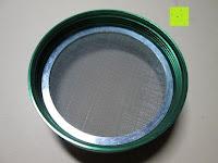 Sieb Rückseite: DCOU tabak schleifer Alu tobacco grinder tabak spice herb pollen anlage gras mühle 4 schichten aluminium crusher - Ø55mm H48mm grün