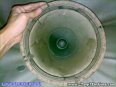 """Gambar Loudspeaker 10"""" Mid-range dari Depan"""