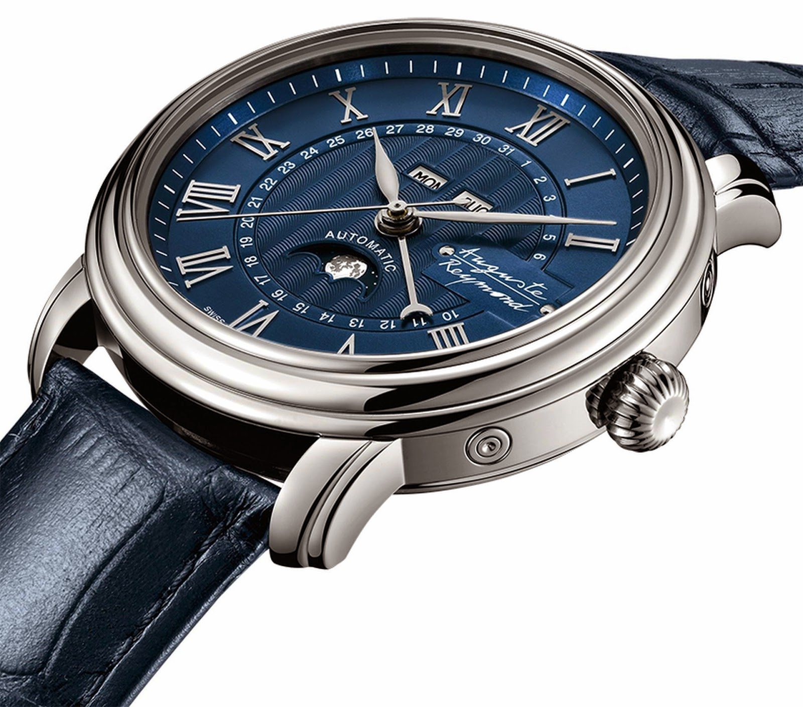 Auguste Reymond Cotton Club Moonphase automatic watch
