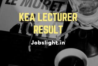 KEA Lecturer Result