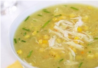 Rice Soup with Corn Recipe