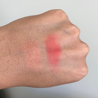 Coloured Raine x Power Highlighter/Blush Duo in Call the Shots swatches on dark skin