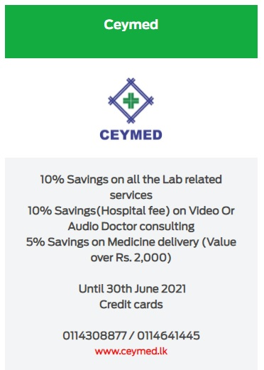 10% Savings on all the Lab related services for NDB Credit Cards