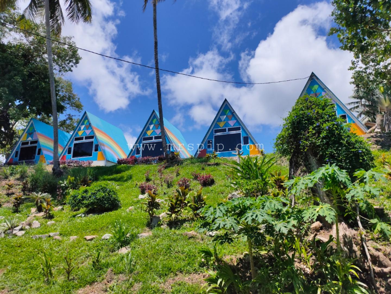 lokasi instagrammable di kuala penyu triangle house