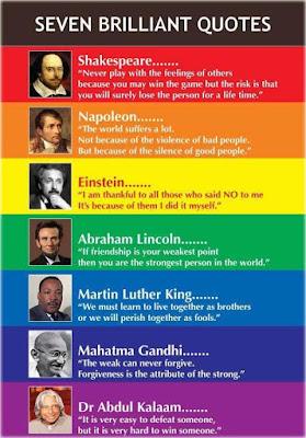 7 Brilliant Quotes