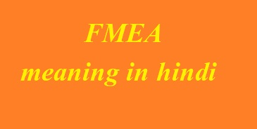 FMEA meaning in hindi FMEA का मतलब क्या होता है?