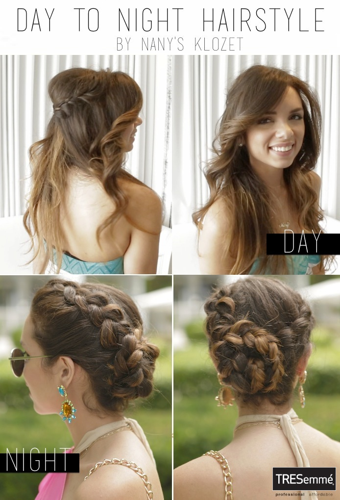 Nany's Klozet VIDEO TUTORIAL Day To Night Hairstyles With TRESemmé
