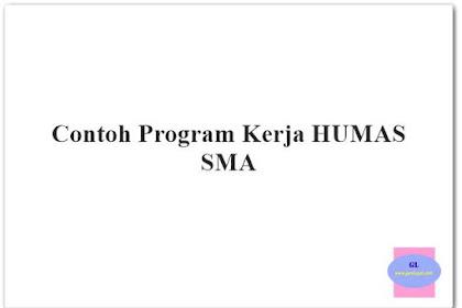 Contoh Program Kerja HUMAS Sekolah SMA