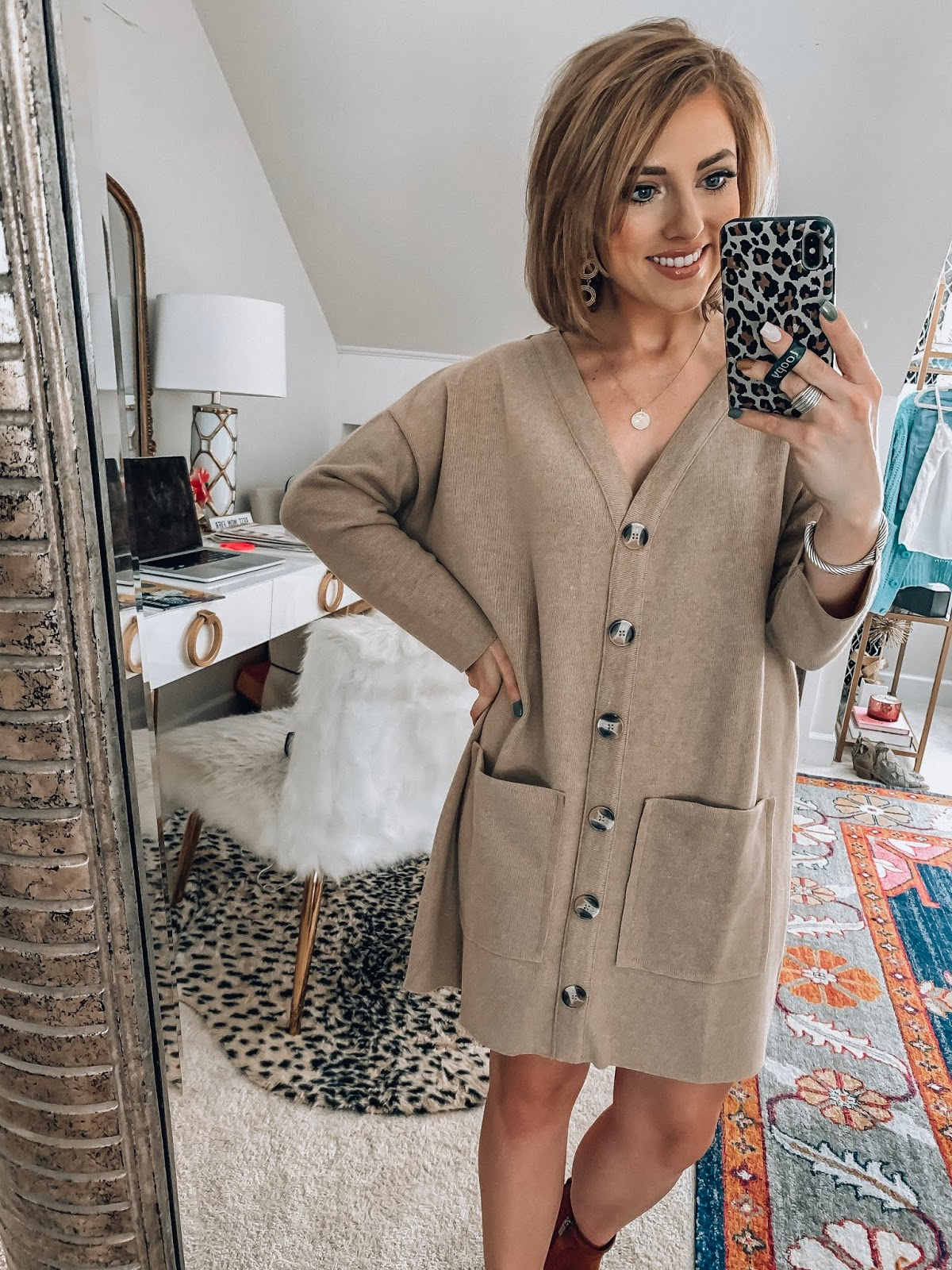 ASOS New Fall Arrivals - $45 Cardigan Dress - Something Delightful Blog #fallstyle #affordablefashion