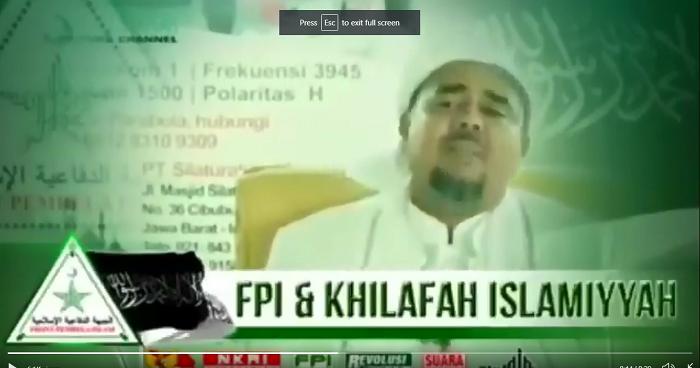 Ceramah Habib Riziq Tegaskan Misi FPI Dirikan Khilafah ...