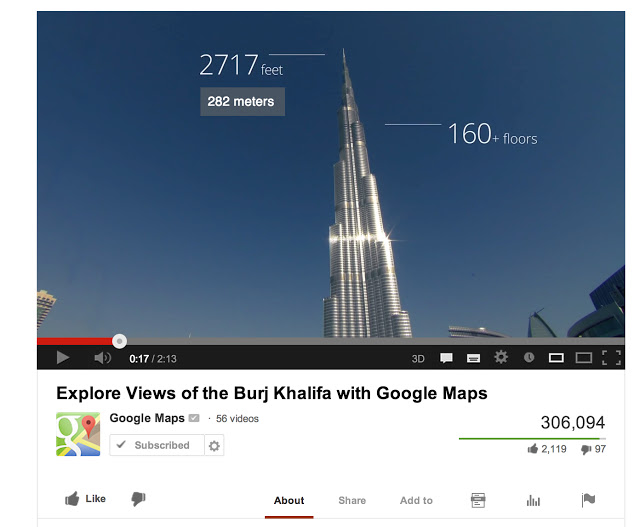 Google Maps in Burj Khalifa in Dubai with a Typo at Height!