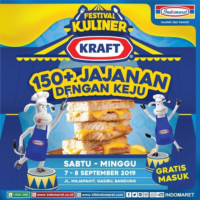 #Indomaret - #Promo Event Festival Kuliner Kraft 150+ Jajanan Dengan Keju di Bandung (07 - 08 Sept 2019)