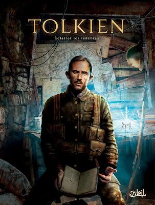 """couverture de """"Tolkien éclairer les ténèbres"""" de Will Durrafourg et Giancarlo Caracuzzo paru chez Delcourt"""