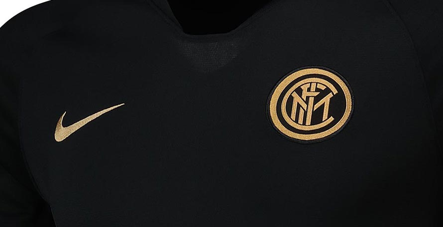 new product 60a1a 85afb Black / Gold Inter Milan 19-20 Training Collection Released ...