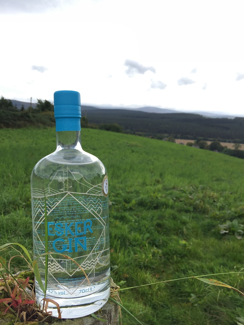 Esker gin overlooking royal deeside