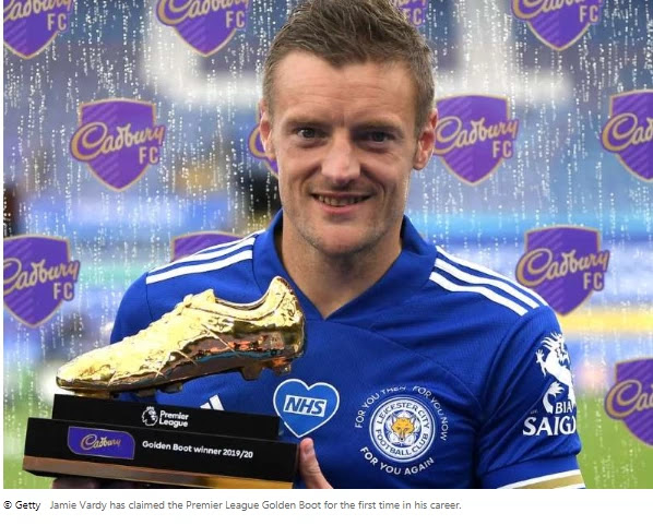 Vardy wins Premier League Golden Boot Leicester City striker Jamie Vardy has received