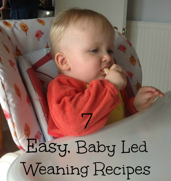 7-easy-recipes-for-baby-led-weaning-recipe-text-over-image-of-baby-eating