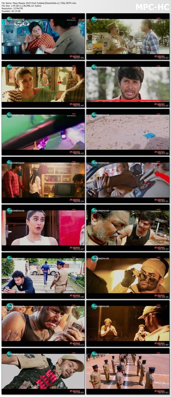 Mass Masala 2019 Hindi Dubbed 720p HDTV 1GB Desirehub