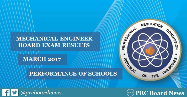 March 2017 Mechanical Engineering ME board exam results