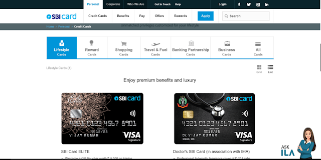 Apply for SBI credit card online