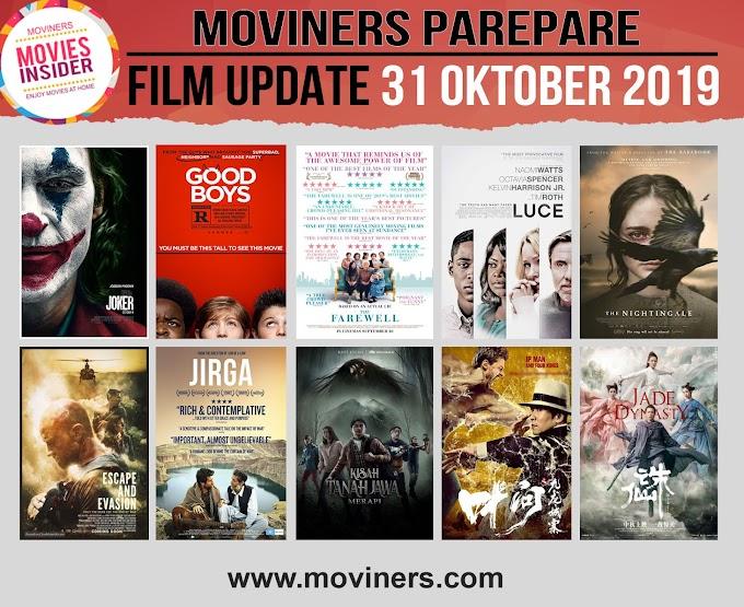 FILM UPDATE 31 OKTOBER 2019